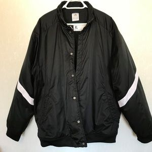 ADIDAS Mens Sz XL Extra Large Black & White Coat